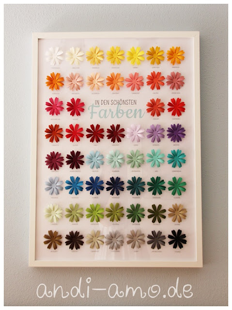 Farb-Plakat Stampin Up Gänseblümchen in 53 Farben