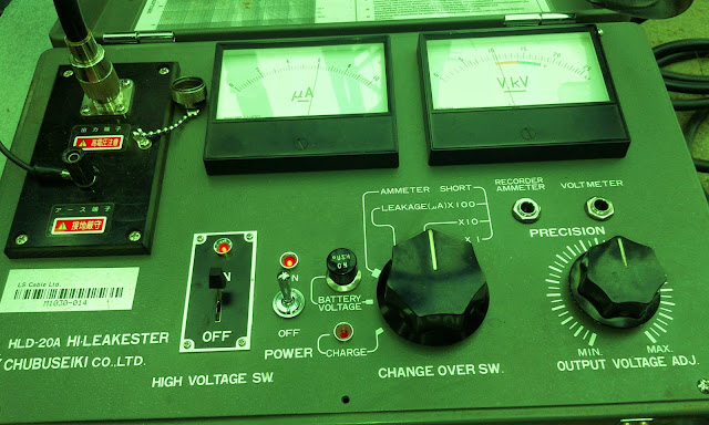 Pre-commissioning and commissioning test equipment for HV cable line