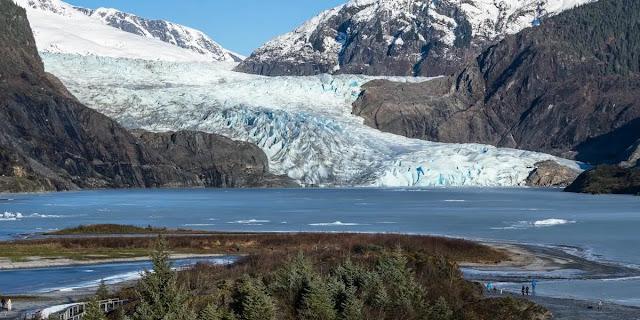 center at the glacier in Juneau, Alaska