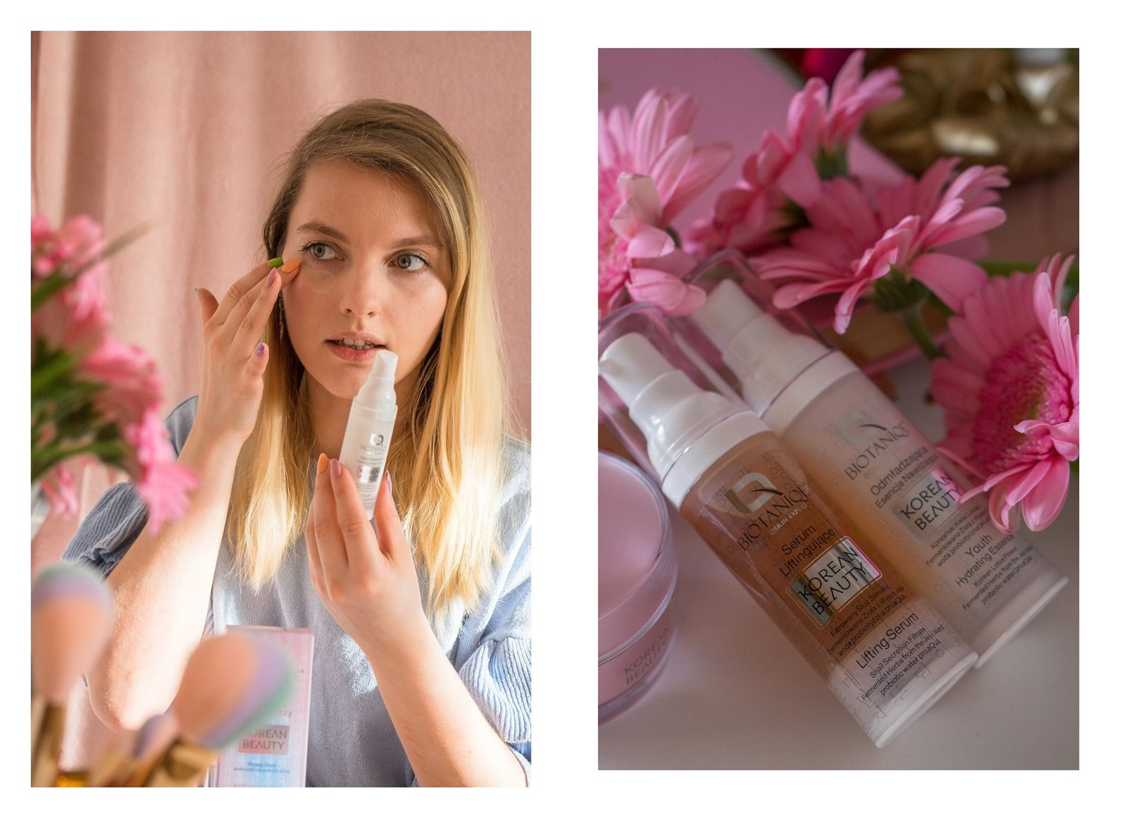 4A biotaniqe koreańska pielęgnacja krok po kroku w jakiej kolejności nakładać kosmetyki jak dbać o cerę koreańskie kosmetyki kremy serum maski korean beauty instagram melodylaniella łódzka blogerka lifestyle