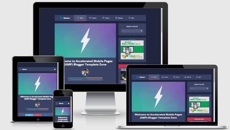 Vletter AMP premium blogger template free