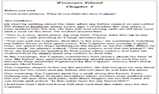 نص قصة جزيرة الكنز Treasure Island المقررة على الصف الاول الثانوى -وورد من موقع درس انجليزي