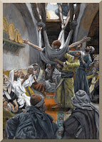 """The Palsied Man Let Down Through the Roof"" -- by James Tissot - PD-1923"