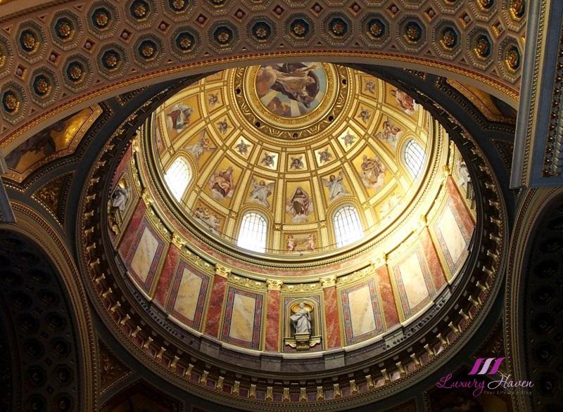 eu holidays budapest st stephen basilica cupola dome
