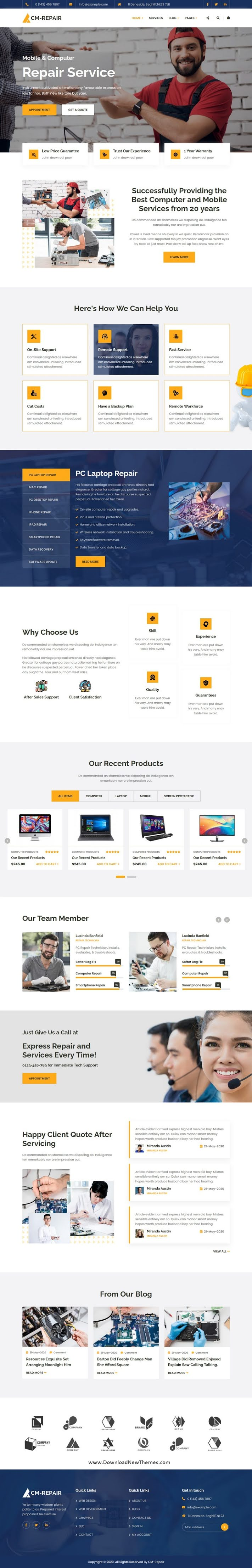 Computer and Mobile Repair Store HTML Template
