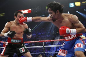 Manny Pacquiao victory over rival Juan Manuel Marquez, after beating the Mexican boxer with a 12-round majority decision.