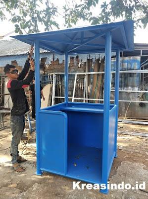 Pos Satpam Besi pesanan PT Bumi Daya Plaza untuk Komplek Mandiri Bumi Slipi Jakarta