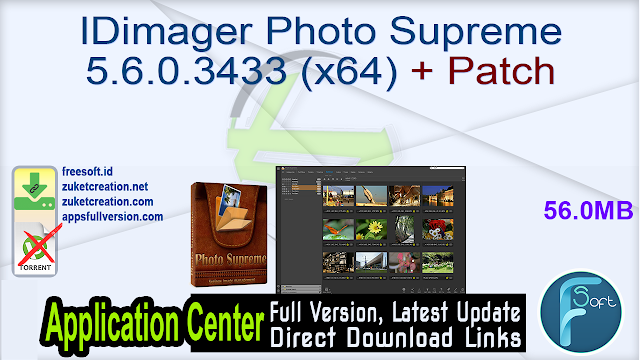 IDimager Photo Supreme 5.6.0.3433 (x64) + Patch