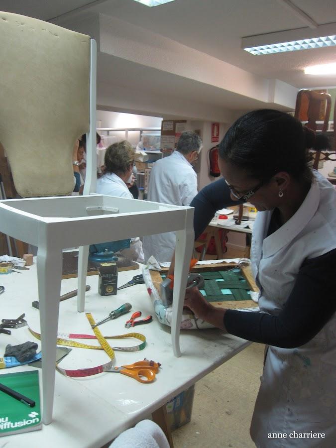 www.annecharriere.com, experiencia en taller restauralo, beatriz moreno, madrid,