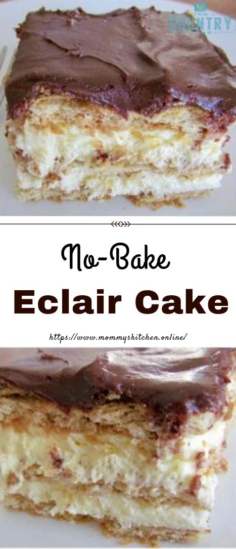 No-Bake Eclair Cake #desserts #easyrecipe