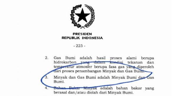 """Viral Defenisi di UU Cipta Kerja yang Diteken Jokowi, """"Minyak dan Gas Bumi adalah Minyak Bumi dan Gas Bumi"""""""