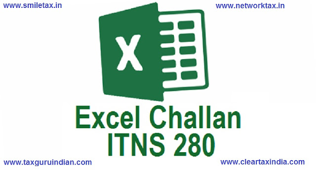 Income Tax Challan ITNS 280 in Excel