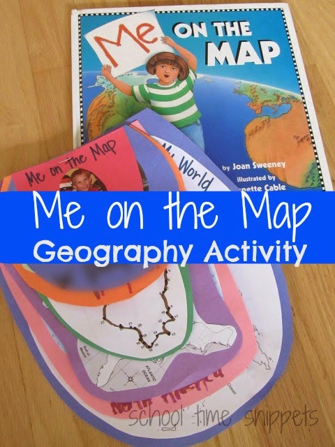 me on the map geography lesson