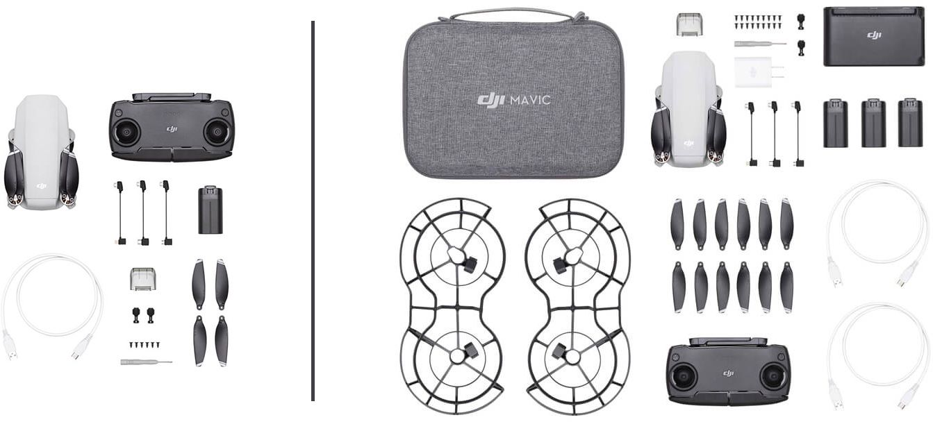 Комплектация DJI Mavic Mini Fly More Combo