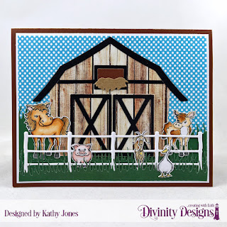 Stamp/Die Duos: Farm Friends   Paper Collections: Boho Bolds, Weathered Wood   Custom Dies: Barn, Farm Fence, Grass Lawn, Grass Hill