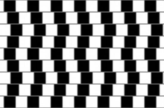 Ilusão de ótica - Linhas Tortas ou Retas