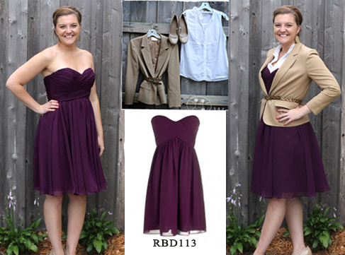 suit jacket and bridesmaid dresses
