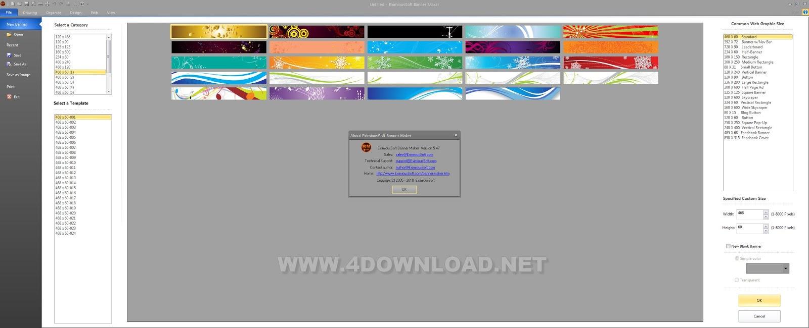 EximiousSoft Banner Maker v5.47 Full version