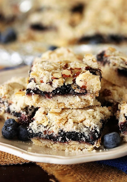 Blueberry-Almond Bars with Blueberry Preserves Image