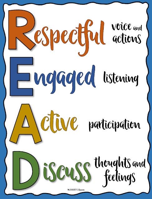 Reading aloud to your class is an important part of your day.  You need to set student expectations for this engaging instructional time.