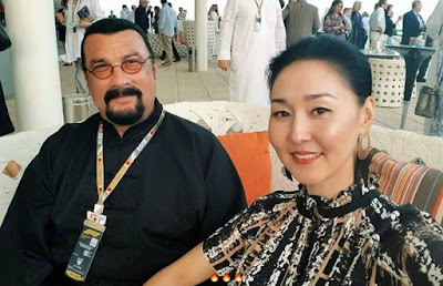 Kunzang Seagal's parents clicking selfie together
