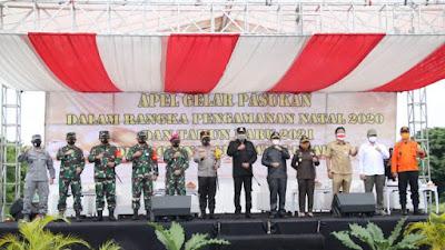 Gubernur Sulut Pimpin Apel Gelar Pasukan Operasi Lilin 2020 Dikawasan Megamas Manado