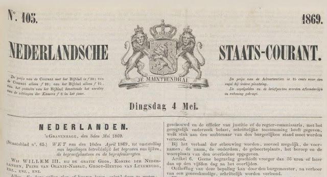 Nederlandsche Staatscourant van 4 mei 1869