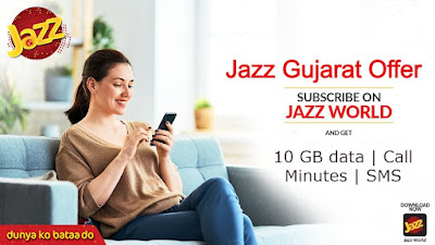 Jazz Gujrat offer Weekly & Monthly Subscription & Unsub Code