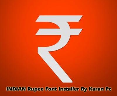 Rupee Font Installer (INDIA)