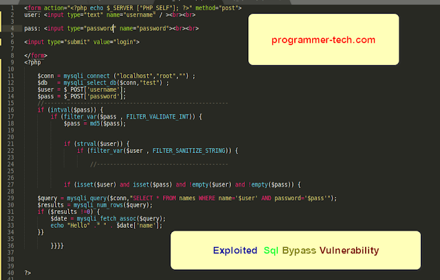 php sql bypass