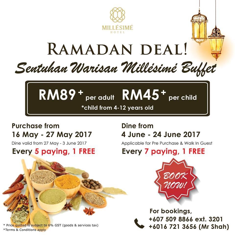 buffet ramadhan millesime hotel jb