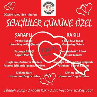 Viya Restaurant İzmir Sevgililer Günü Menüsü 2020