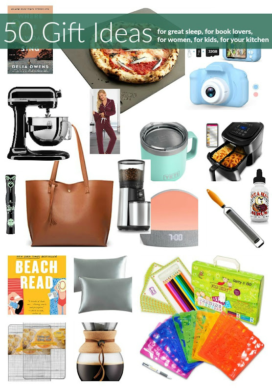 50 Gift Ideas (for great sleep, for book lovers, for women, for kids, for your kitchen)