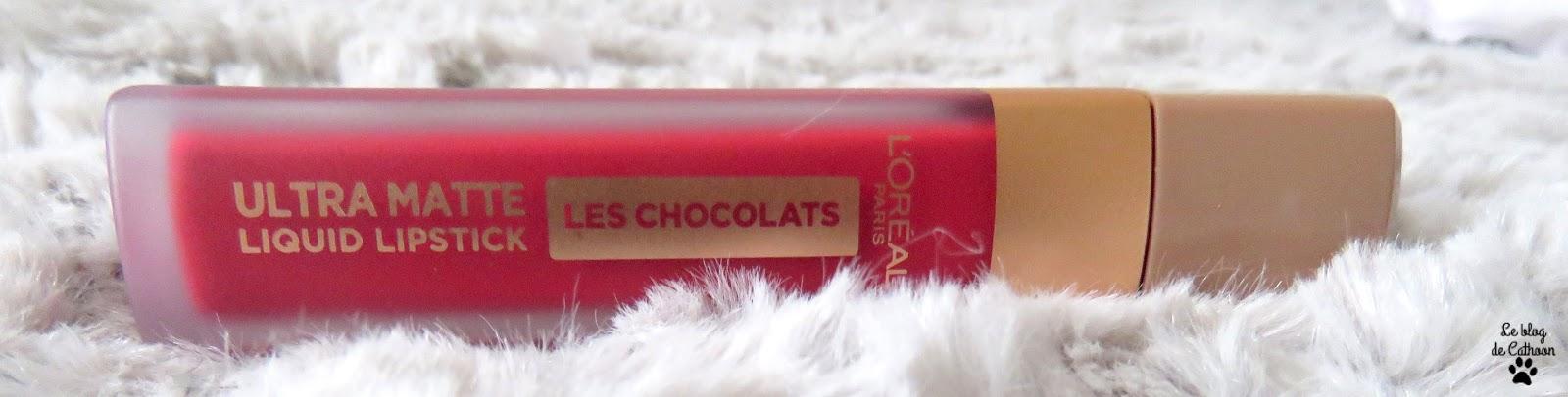 Ultra Matte - Liquid Lipstick - Les Chocolats - 864 Tasty Ruby - L'Oréal