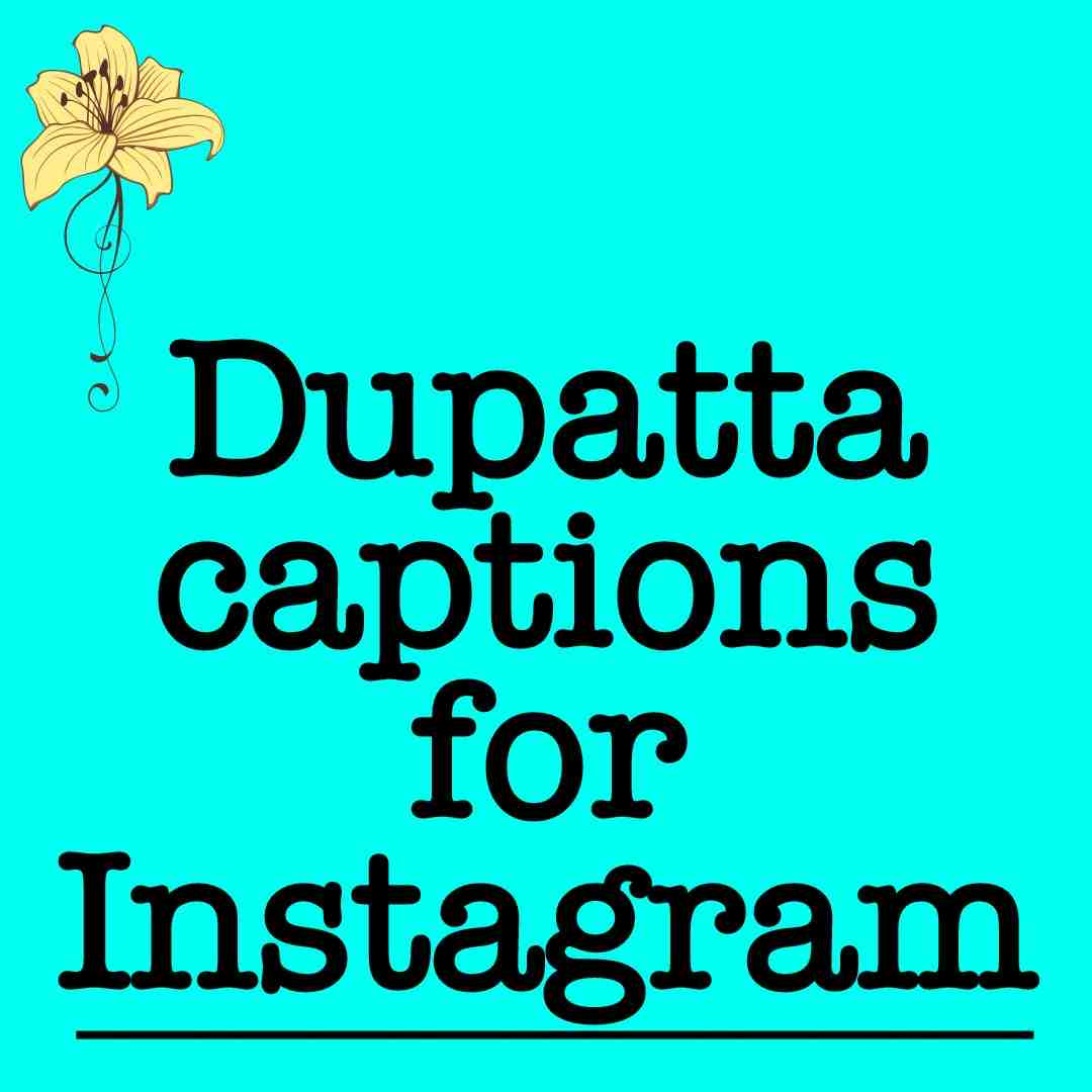 Flying Dupatta captions for Instagram