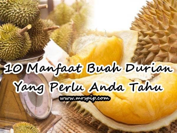 10 Manfaat Buah Durian Yang Perlu Anda Tahu