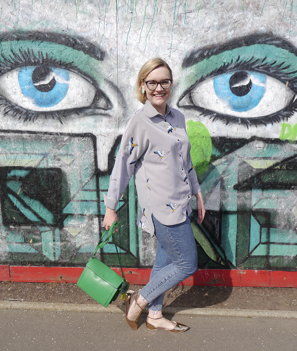 Street style with CrossEyes Opticians Edinburgh as worn by Wardrobe Conversations fashion blogger