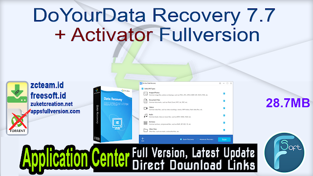 DoYourData Recovery 7.7 + Activator Fullversion