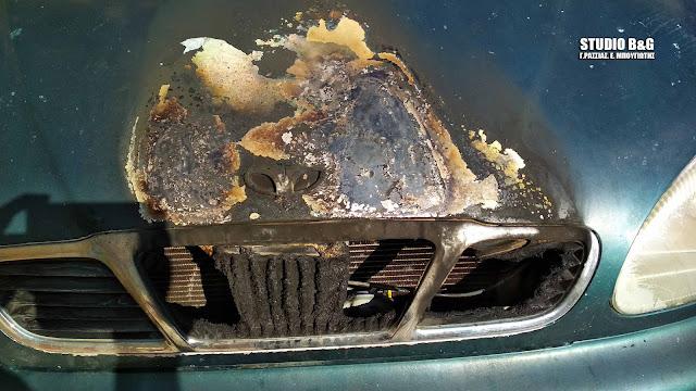 Περίεργη υπόθεση με εμπρησμό αυτοκινήτου τα ξημερώματα στο Ναύπλιο