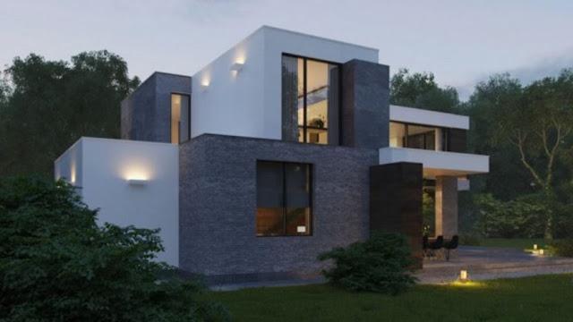 40 Desain Eksterior Rumah Modern Minimalis