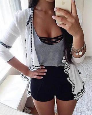Outfits con bralette juvenil casual tumblr de moda