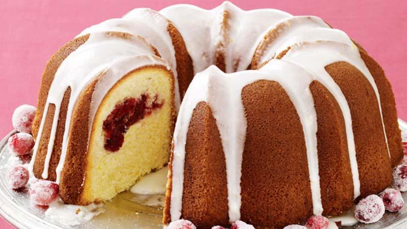 Meyer Lemon-Cranberry Bundt Cake