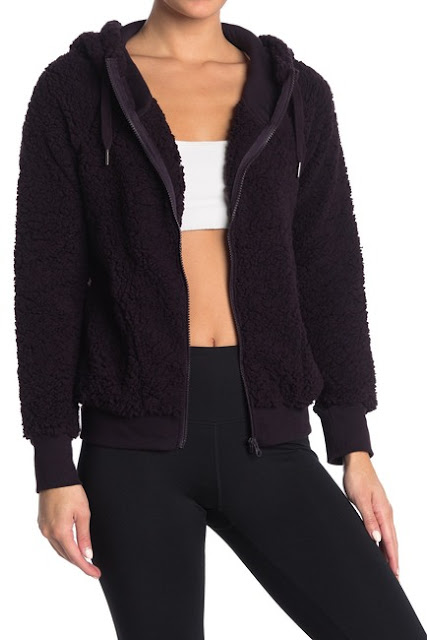 Z By Zella Teddy Bomber Jacket