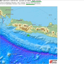 6.5 M earthquake has struck the coast of Java in Indonesia