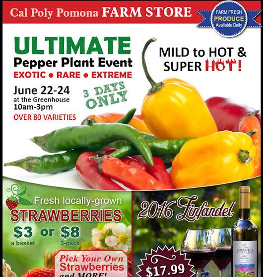 Cal Poly Pomona Farm Store Specials and Events