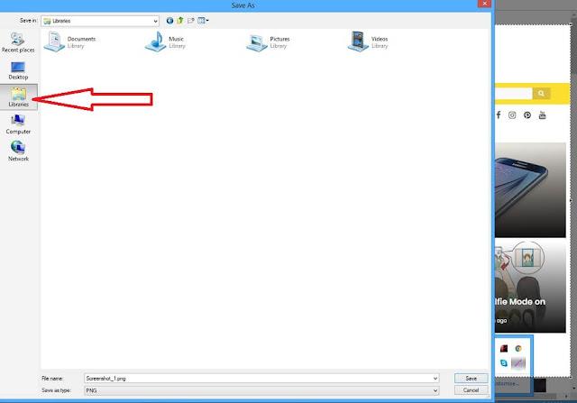 How to take screenshot by Lightscreen