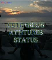 CUTE GIRLS ATTITUDE STATUS - Attitude Status for Girls Hindi And English