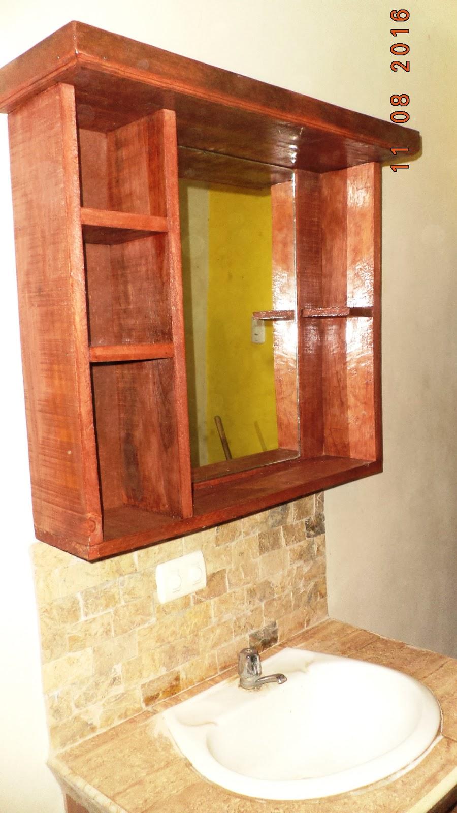 Bricopalets repisa de ba o con espejo for Repisas para bano rimax