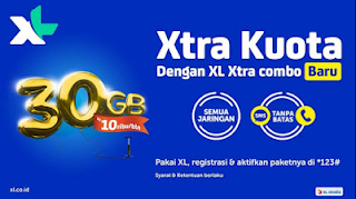 Cara Daftar Paket Internet XL 10rb 30gb