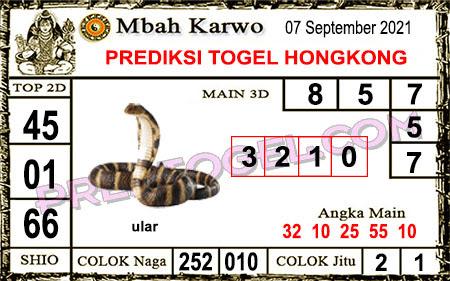 Prediksi Mbah Karwo Hk Selasa 07 September 2021